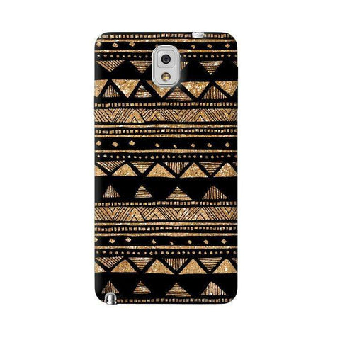 Vintage Gold Tribal Stripe Black  Samsung Galaxy Note 3 Case