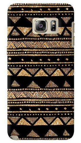 Vintage Gold Tribal Stripe Black  Samsung Galaxy Note 5 Case
