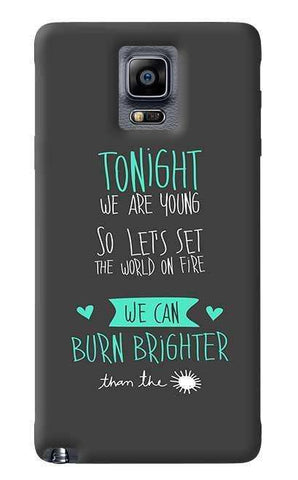 We Are Young Samsung Galaxy Note 4 Case