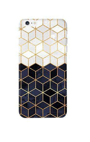 White & Navy Cubes Apple iPhone 6 Plus Case