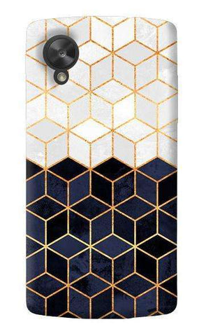 White & Navy Cubes LG Nexus 5 Case
