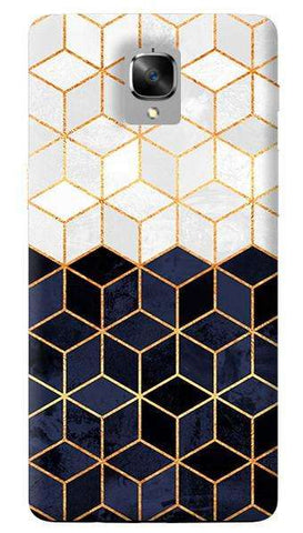 White & Navy Cubes Oneplus 3/ 3T Case