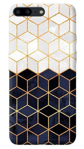 White & Navy Cubes Oneplus 5 Case