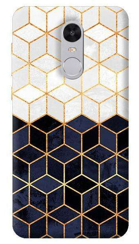 White & Navy Cubes Xiaomi Redmi Note 4 Case
