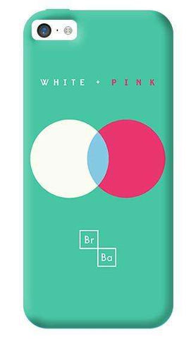 White + Pink   Apple iPhone 5C Case
