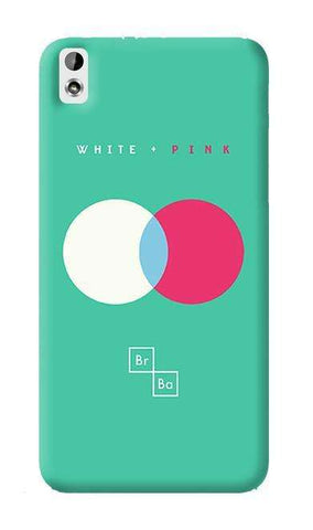 White + Pink   HTC Desire 816 Case