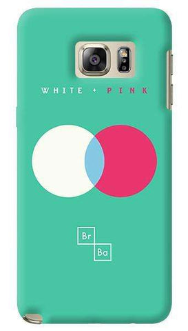 White + Pink   Samsung Galaxy Note 5 Case