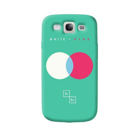 White + Pink   Samsung Galaxy S3 Case