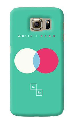 White + Pink   Samsung Galaxy S6 Case