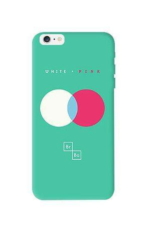 White + Pink  Apple iPhone 6 Plus Case