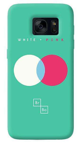 White + Pink  Samsung Galaxy S7 Edge Case