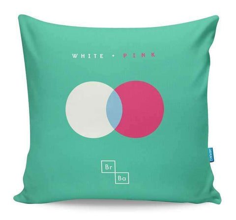 White + Pink Cushion Cover