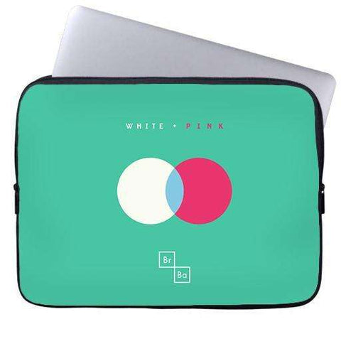 White + Pink Laptop Sleeve