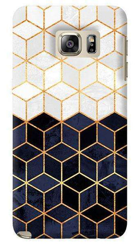 White _ Navy Cubes  Samsung Galaxy Note 5 Case