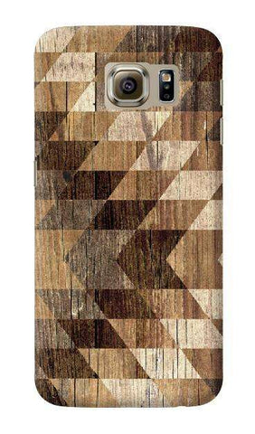 Wood Grain Tribal Geometric  Samsung Galaxy S6 Case