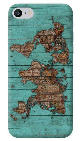 Wood Map Apple iPhone 7 Case