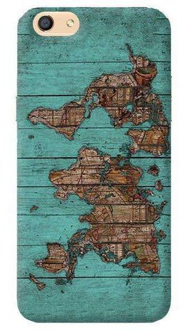 Wood Map Oppo F3 Case
