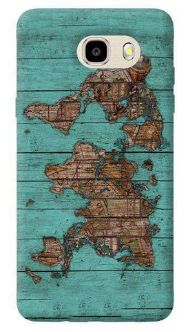 Wood Map Samsung Galaxy J7 Prime Case