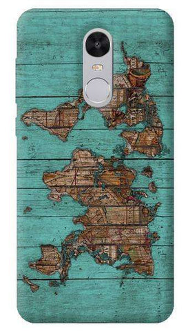 Wood Map Xiaomi Redmi Note 4 Case