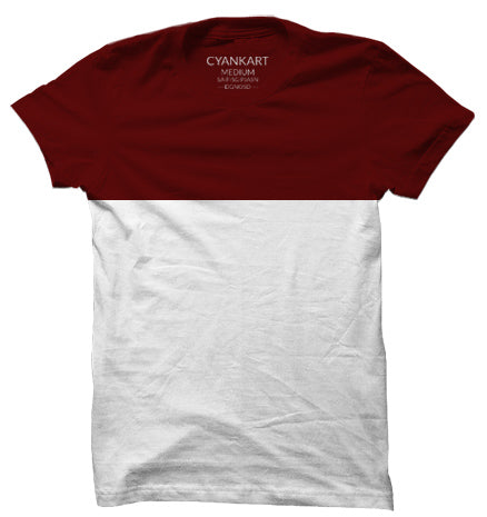 Amsterdam Burgandy & White T-Shirt