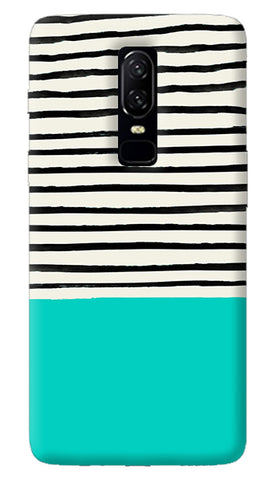 Aqua Stripes Oneplus 6 Case