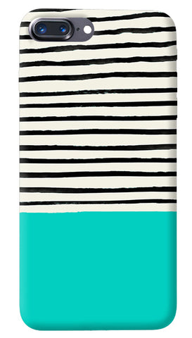 Aqua Stripes iPhone 8 Plus Cover