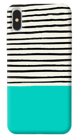 Aqua Stripes iPhone X Cover
