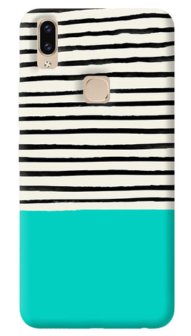 Aqua Stripes Vivo V9 Cover
