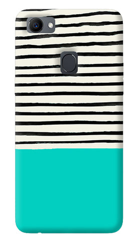 Aqua Stripes Oppo F7 Cover