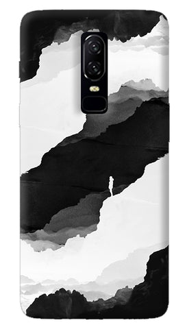 Black Isolation Oneplus 6 Case