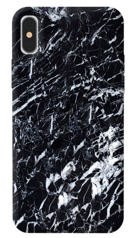 Black Marble iPhone X Cover