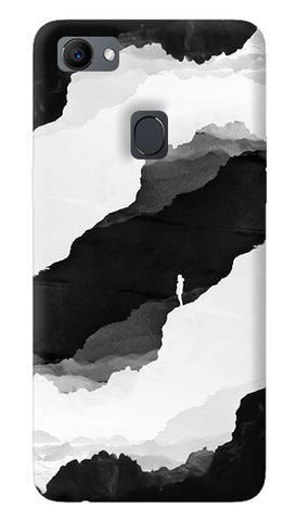 Black Isolation Chevron Oppo F7 Cover