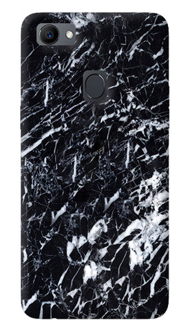 Black Marble Chevron Oppo F7 Cover