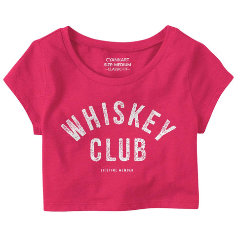 Whiskey Club Crop Top