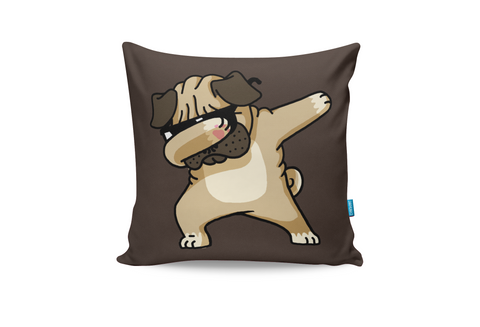 The Pug Dab Cushion Cover