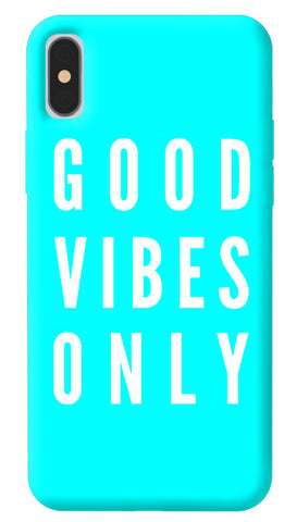 Good Vibes Only iPhone X Cover