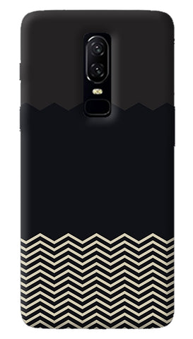 Grey Chevron Oneplus 6 Case