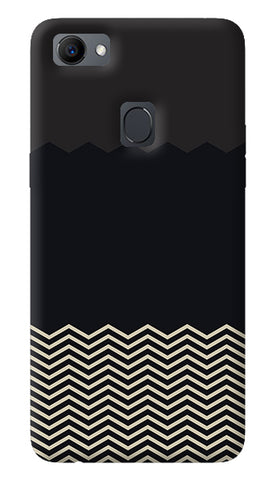 Grey Chevron Oppo F7 Cover