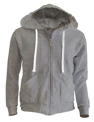 Light Grey Zipper Hoodie
