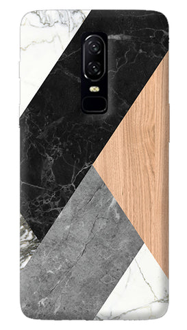 Marble Woods Abstract Oneplus 6 Case
