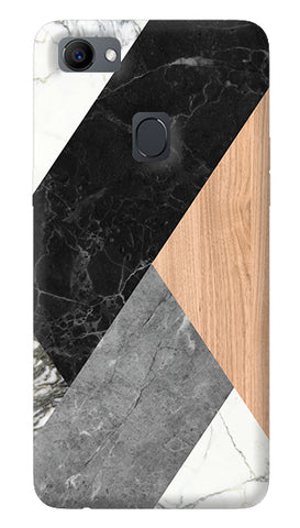 Marble Woods Abstract Oppo F7 Cover