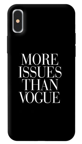 More Issues Than Vogue iPhone X Cover