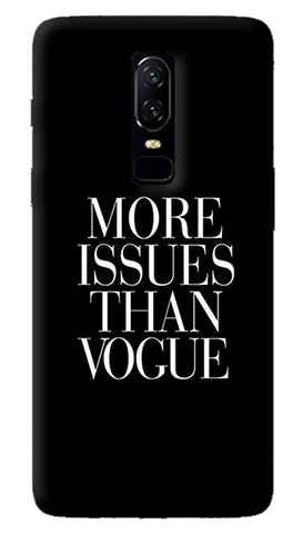 More Issues Than Vogue Oneplus 6 Case