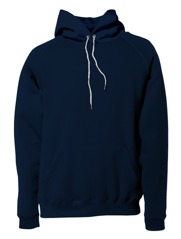 Navy Blue Solid Pullover Hoodie