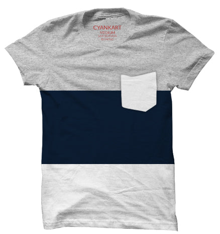New York Navy Blue Panel T-Shirt