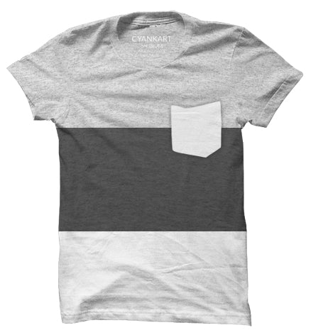 New York Grey Panel T-Shirt