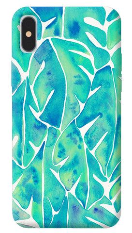 Turquoise Leaf iPhone X Cover