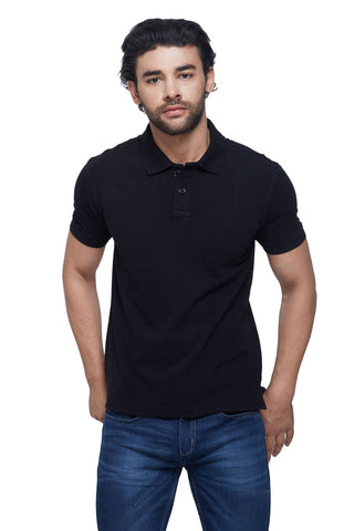 Madrid Black Polo T-Shirt