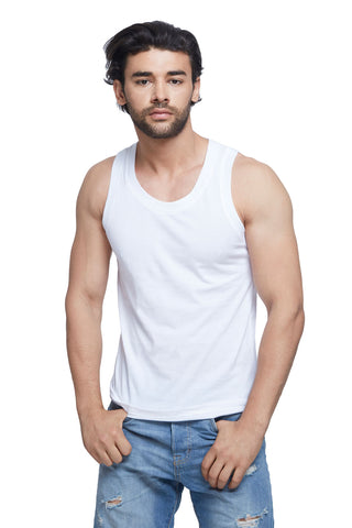 White Basic Tank Top