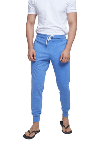 Light Blue Melange Men's Sweatpants